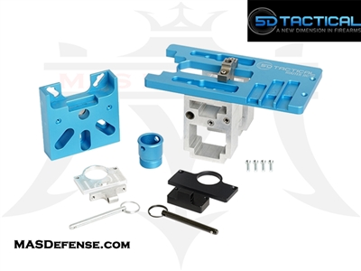 5D TACTICAL MULTIPLATFORM 80% LOWER RECEIVER ROUTER JIG - AR-15 / AR-9 / AR-45 / .308 / AR-10 - 5D-PMJ