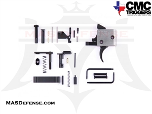 CMC TRIGGERS CURVED AR-15 DROP-IN TRIGGER WITH COMPLETE LOWER RECEIVER PARTS KIT FOR AR-15 - SINGLE STAGE 3.5LB - 81501