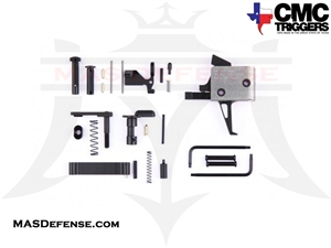 CMC TRIGGERS FLAT AR-15 DROP-IN TRIGGER WITH COMPLETE LOWER RECEIVER PARTS KIT FOR AR-15 - SINGLE STAGE 3.5LB FLAT - 81503