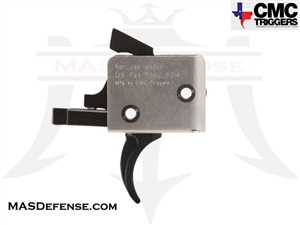 CMC TRIGGERS CURVED AR-15 / AR-10 DROP-IN TRIGGER SINGLE STAGE 3.5 - 4 LB - 91501