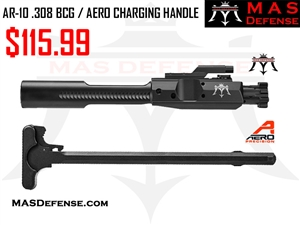 AR-10 .308 BOLT CARRIER GROUP (DPMS) - AR-10 .308 AERO PRECISION FORGED CHARGING HANDLE - COMBO