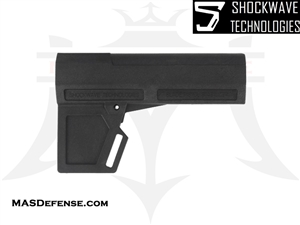 AR-15 SHOCKWAVE BLADE 2M PISTOL STABILIZER - BLACK - KIT OPTIONS AVAILABLE - KAK-SHKWV-BLK-2M