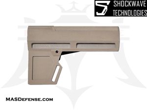 AR-15 SHOCKWAVE BLADE 2M PISTOL STABILIZER - FDE - KIT OPTIONS AVAILABLE - KAK-SHKWV-FDE-2M