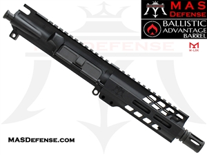 "6"" 300 BLACKOUT BARRELED UPPER - MAS NERO 5.5"" M-LOK RAIL - BALLISTIC ADVANTAGE BARREL"