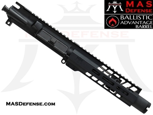 "6"" 300 BLACKOUT BARRELED UPPER - MAS NERO  7.25"" M-LOK RAIL - BALLISTIC ADVANTAGE BARREL"