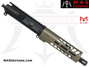 "7.5"" 300 BLACKOUT AR-15 BARRELED UPPER - MAS DEFENSE NERO 7.25"" M-LOK RAIL - FDE"