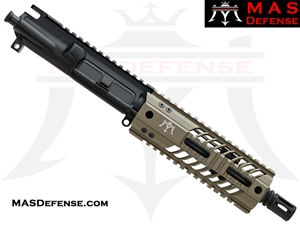 "7.5"" 300 BLACKOUT AR-15 BARRELED UPPER - MAS DEFENSE SQUADRON 7"" LIGHTWEIGHT QUAD RAIL - FDE"