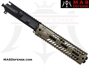"7.5"" 300 BLACKOUT AR-15 BARRELED UPPER - MAS DEFENSE SQUADRON 9.87"" LIGHTWEIGHT QUAD RAIL - FDE"