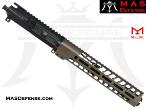 "8.5"" 300 BLACKOUT AR-15 BARRELED UPPER - MAS DEFENSE NERO 11"" M-LOK RAIL - FDE"