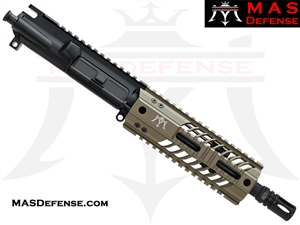 "8.5"" 300 BLACKOUT AR-15 BARRELED UPPER - MAS DEFENSE SQUADRON 7"" LIGHTWEIGHT QUAD RAIL - FDE - BALLISTIC ADVANTAGE BARREL"