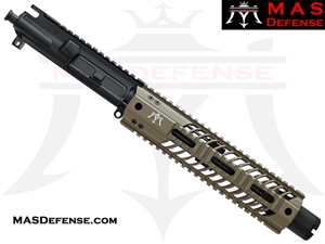 "8.5"" 300 BLACKOUT AR-15 BARRELED UPPER - MAS DEFENSE SQUADRON 9.87"" LIGHTWEIGHT QUAD RAIL - FDE"