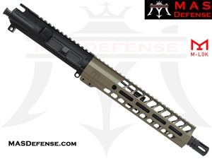 "10.5"" 300 BLACKOUT AR-15 BARRELED UPPER - MAS DEFENSE NERO 9.87"" M-LOK RAIL - FDE"