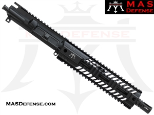 "10.5"" 300 BLACKOUT AR-15 BARRELED UPPER - MAS DEFENSE SQUADRON 9.87"" LIGHTWEIGHT QUAD RAIL"