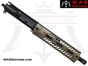 "10.5"" 300 BLACKOUT AR-15 BARRELED UPPER - MAS DEFENSE SQUADRON 9.87"" LIGHTWEIGHT QUAD RAIL - FDE"