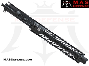 "10.5"" 300 BLACKOUT AR-15 BARRELED UPPER - MAS DEFENSE SQUADRON 12"" LIGHTWEIGHT QUAD RAIL"