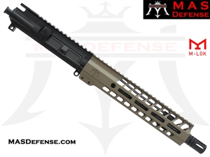 "10.5"" 5.56 / .223 AR-15 BARRELED UPPER - MAS DEFENSE NERO 9.87"" M-LOK RAIL - FDE"
