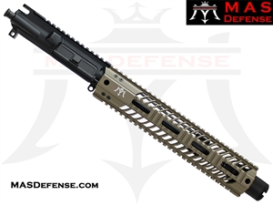 "10.5"" 5.56 / .223 AR-15 BARRELED UPPER - MAS DEFENSE SQUADRON 12"" LIGHTWEIGHT QUAD RAIL - FDE"
