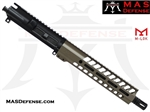 "10.5"" 9MM BARRELED UPPER - MAS NERO 9.87"" M-LOK RAIL - FDE"