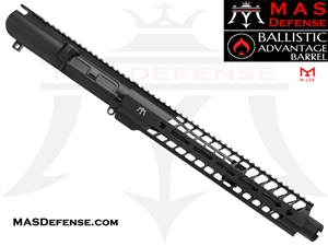 "12.5"" .308 AR-10 BARRELED UPPER - MAS DEFENSE NERO 12.62"" M-LOK RAIL - BALLISTIC ADVANTAGE BARREL"