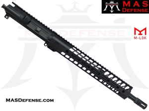 "14.5"" 5.56 / .223 AR-15 BARRELED UPPER - MAS DEFENSE NERO 12.62"" M-LOK RAIL - BALLISTIC ADVANTAGE BARREL"