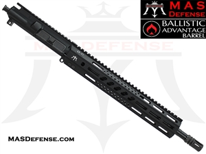 "14.5"" 5.56 / .223 AR-15 BARRELED UPPER - MAS DEFENSE 12.62"" MW8 OCTAGON M-LOK RAIL - BALLISTIC ADVANTAGE BARREL"