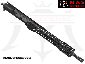 "14.5"" 5.56 / .223 AR-15 BARRELED UPPER - MAS DEFENSE RIDGELINE 12.62"" M-LOK RAIL - BALLISTIC ADVANTAGE BARREL"