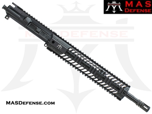 "14.5"" 5.56 / .223 AR-15 BARRELED UPPER - MAS DEFENSE SQUADRON 12"" LIGHTWEIGHT QUAD RAIL - BALLISTIC ADVANTAGE BARREL"