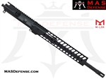 "16"" 300 BLACKOUT AR-15 BARRELED UPPER - MAS DEFENSE NERO 12.62"" M-LOK RAIL"