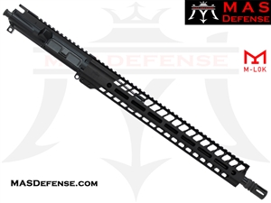 "16"" 300 BLACKOUT AR-15 BARRELED UPPER - MAS DEFENSE NERO 15"" M-LOK RAIL"