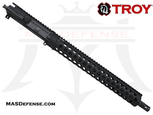 "16"" 300 BLACKOUT BARRELED UPPER - TROY ALPHA RAIL 15"" - CARBINE GAS"