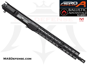 "16"" .308 AR-10 BARRELED UPPER - AERO PRECISION UPPER AND 15"" ATLAS R-ONE M-LOK RAIL - BALLISTIC ADVANTAGE BARREL APPG538604P22, APAR538705M22"