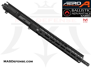 "16"" AR-10 .308 BARRELED UPPER - BALLISTIC ADVANTAGE BARREL - AERO PRECISION UPPER RECEIVER AND 15"" ENHANCED M-LOK RAIL"
