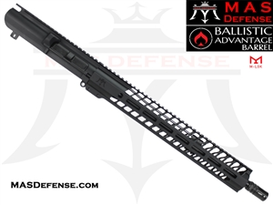 "16"" .308 AR-10 BARRELED UPPER - MAS DEFENSE NERO 15"" M-LOK RAIL - BALLISTIC ADVANTAGE BARREL"