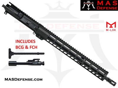 "16"" 5.56 / .223 AR-15 BARRELED UPPER - MAS DEFENSE GROUNDWORK 15"" M-LOK RAIL - MID LENGTH GAS"