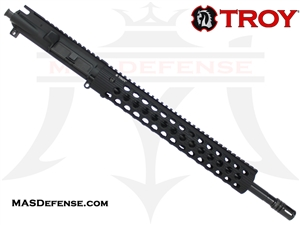 "16"" 5.56 / .223 BARRELED UPPER - TROY ALPHA RAIL 13"" - MID LENGTH GAS"