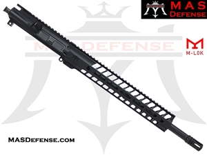"16"" 9MM BARRELED UPPER - MAS NERO 12.62"" M-LOK RAIL"