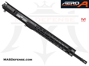 "18"" .308 AR-10 BARRELED UPPER - AERO PRECISION UPPER AND 15"" ATLAS R-ONE M-LOK RAIL - BALLISTIC ADVANTAGE BARREL APPG538604P22, APAR538705M22"