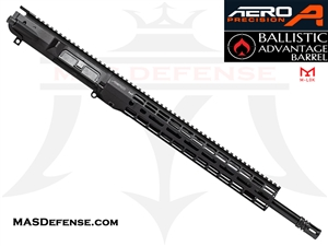 "18"" .308 AR-10 BARRELED UPPER - AERO PRECISION UPPER AND 15"" ATLAS R-ONE M-LOK RAIL - RIFLE GAS - BALLISTIC ADVANTAGE BARREL"