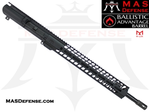 "18"" AR-10 .308 BARRELED UPPER - MAS NERO 15"" M-LOK RAIL - BALLISTIC ADVANTAGE BARREL - RIFLE GAS SYSTEM"