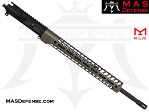 "20"" .223 WYLDE AR-15 BARRELED UPPER - MAS DEFENSE NERO 15"" M-LOK RAIL - FDE - BALLISTIC ADVANTAGE BARREL"