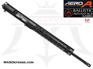 "20"" .308 AR-10 BARRELED UPPER - AERO PRECISION UPPER AND 15"" ATLAS R-ONE M-LOK RAIL - RIFLE GAS - BALLISTIC ADVANTAGE BARREL"