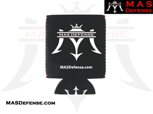 MAS DEFENSE KOOZIE - BLACK LOGO