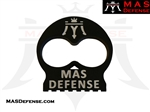 TWO FINGER KNUCK - MAS DEFENSE - BLACK ANODIZED