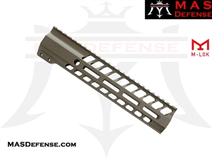 "***BLEM*** MAS DEFENSE 9.87"" NERO M-LOK FREE FLOAT - FDE"