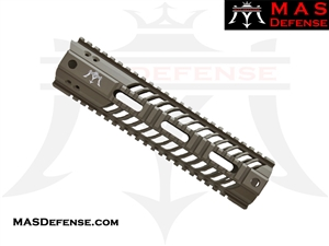 "MAS DEFENSE 9.87"" SQUADRON LIGHTWEIGHT QUAD RAIL - FDE"