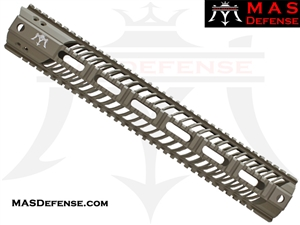 "MAS DEFENSE 15"" SQUADRON LIGHTWEIGHT QUAD RAIL - FDE"