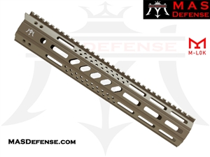 "MAS DEFENSE 12.62"" MW8 OCTAGON M-LOK AR-15 RAIL - FDE"