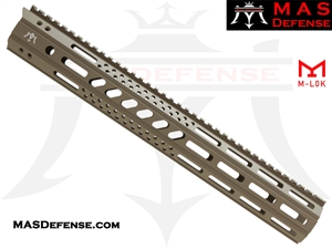 "MAS DEFENSE 15"" MW8 OCTAGON M-LOK AR-15 RAIL - FDE"
