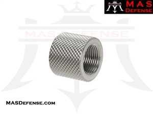 THREAD PROTECTOR KNURLED SILVER - 1/2X28 TPI