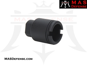 "FLASH CAN ""SLIM SHORT"" MUZZLE DEVICE - 1/2x36 TPI"